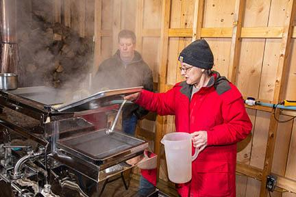 Maple syrup production at Southdown Farm in Letcher County