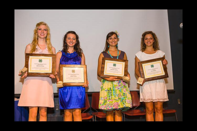 Emerald winners from left: Whitney Crume, Megan Harper, Marketta Lawless and Julia Steffen.