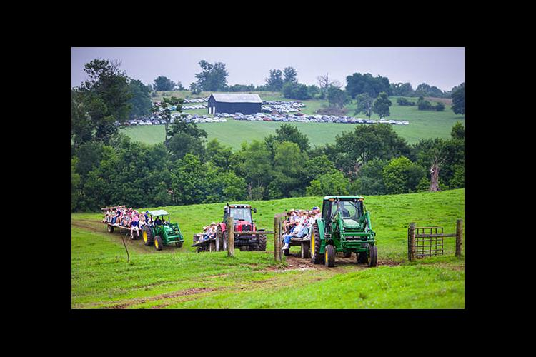 Wagon tours at the 2013 Farm-City Field Day.
