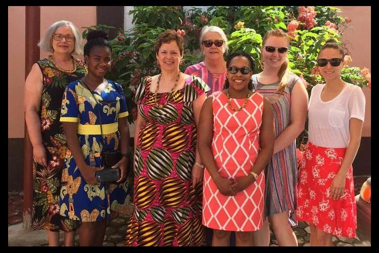 HES Study Tour Participants at Nelsban Palace Hotel in Tafo, Ghana.