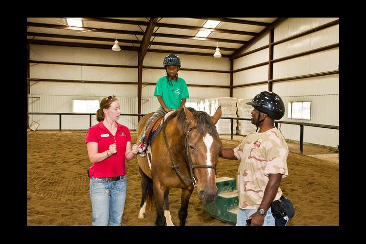 Horseback riding was one of the activities offered at a previous Cooperative Extension camp for military families.