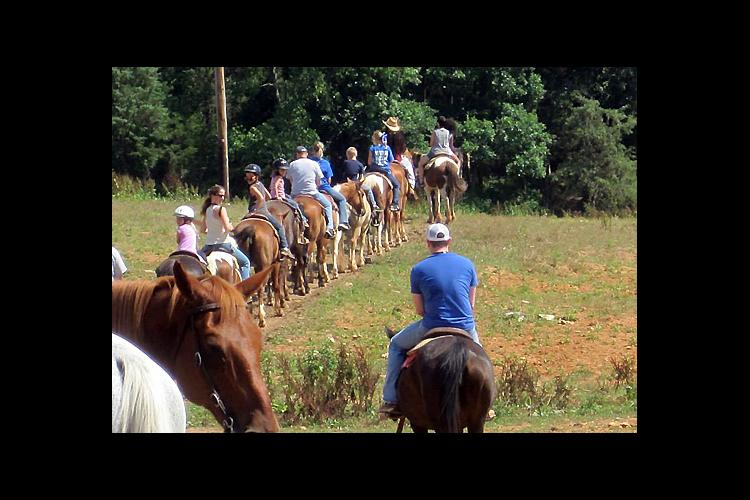 Horseback riding was one of the events at the 2014 camp at Mammoth Cave.