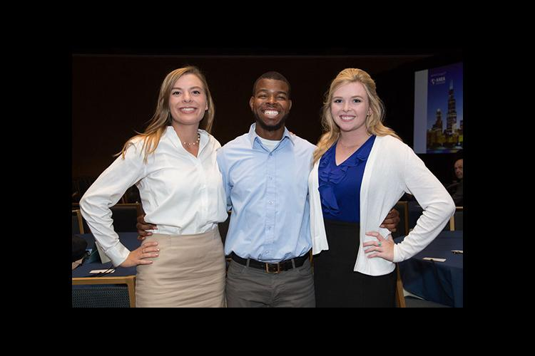 Members of the UK Agricultural Economics' Academic Bowl team are Zoe Gabrielson, Jordan Champion and Erica Rogers.