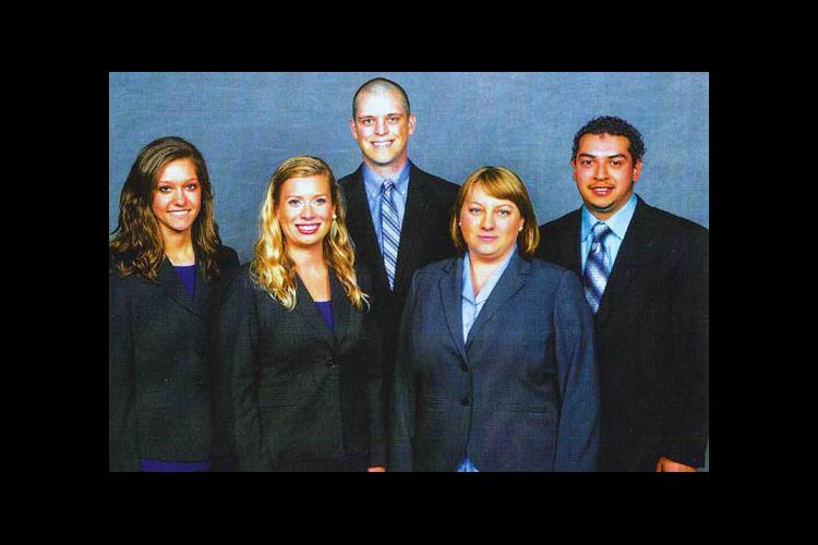 (l-r) Alex Land, Helen Sauer, Nathan Bush, Jessica Hagan, Jose Marin took their ideas to Florida for a national competition.
