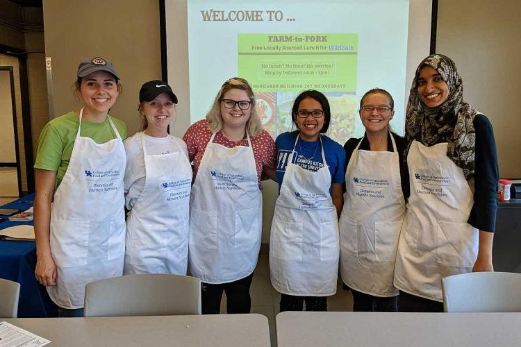 Members of the Campus Kitchen at the University of Kentucky.