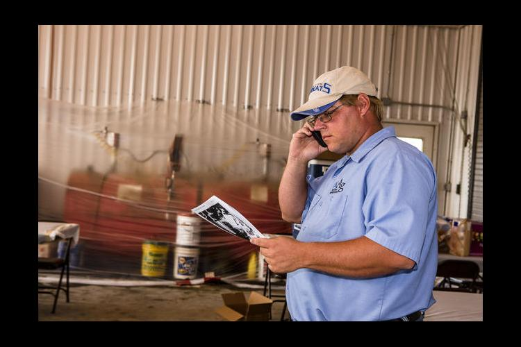 Shannon Rudd, UK C. Oran Little Farm superintendent makes the first call
