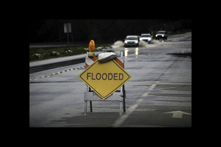 """Flooded"" sign"