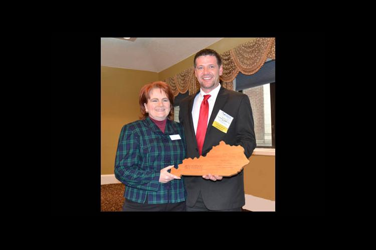 Renee' Williams was presented a Communicator of the Year plaque from KFIA President Darrin Gay.