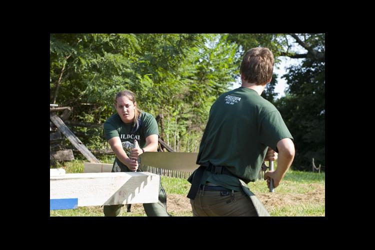 UK Forestry students show off their skills in timber competition.