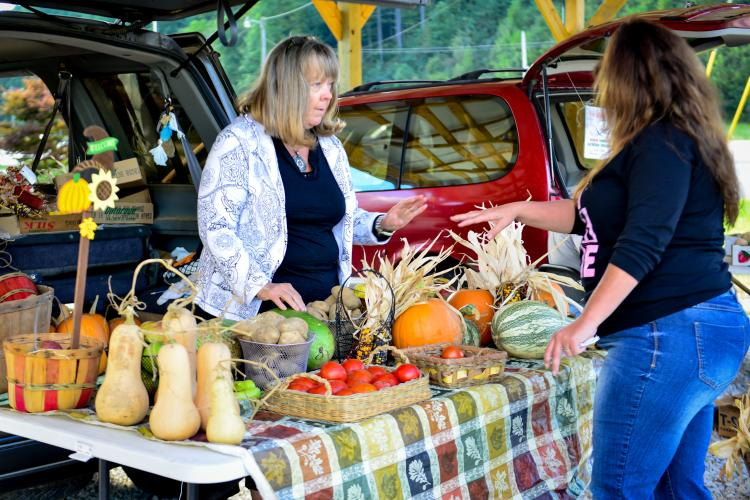 Donna Brewer sells at the Wolfe Co. Farmers Market