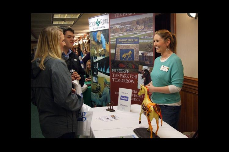 The 2013 UK Equine Career and Opportunity Fair had more than  220 student participants.