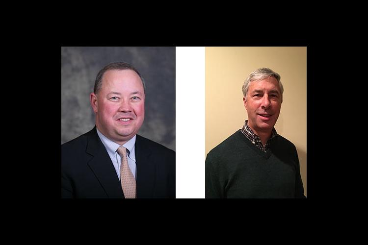 Stuart Brown, left, and Michael Banahan are chair and vice chair of the Gluck Equine Research Foundation's board of directors.