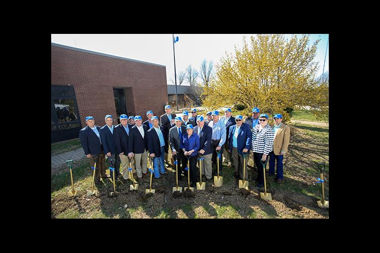 Numerous stakeholders joined UK personnel to break ground on the Grain and Forage Center of Excellence.