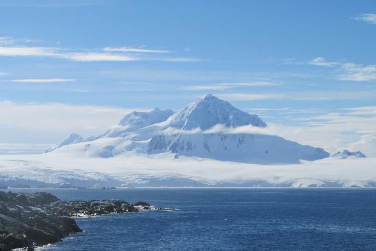 A view from a previous midge collecting site in Antarctica. Photo courtesy of Nick Teets, UK entomologist.
