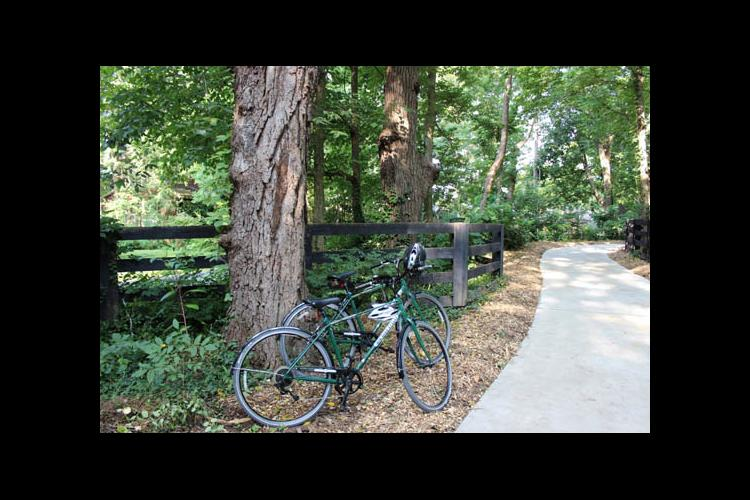 New shared use path at The Arboretum