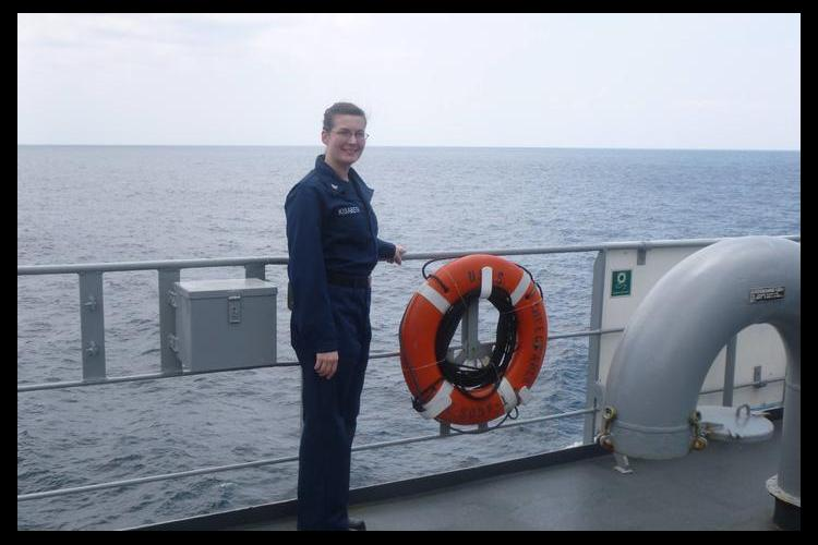Jennifer Kisabeth is a UK student veteran, who served in the United States Navy.