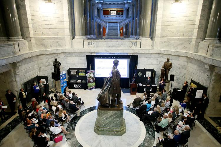 Kentucky Celebrates Small Business event in the Capitol Rotunda in 2017. Photo provided by Kentucky Small Business Development Center