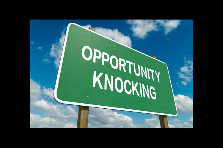 Opportunity Knocking sign