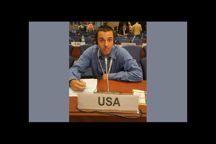 Patrick Johnson as a delegate to UN Convention on Biological Diversity