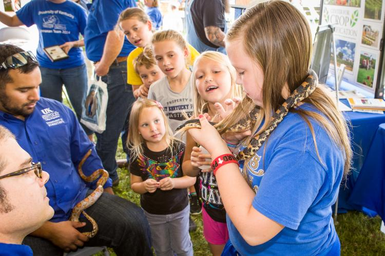 Interactive reptile exhibit from 2014 Mountain Ag Week