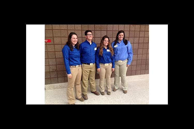 2016 Kentucky 4-H Skillathon Team members are from left: Lauren Dixon, Walter Steely, Madison Kelly and Katie Jo Walker.