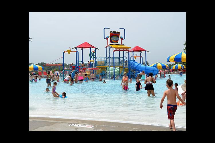 Longest Day of Play participants enjoyed all kinds of aquatic physical activities at SomerSplash.