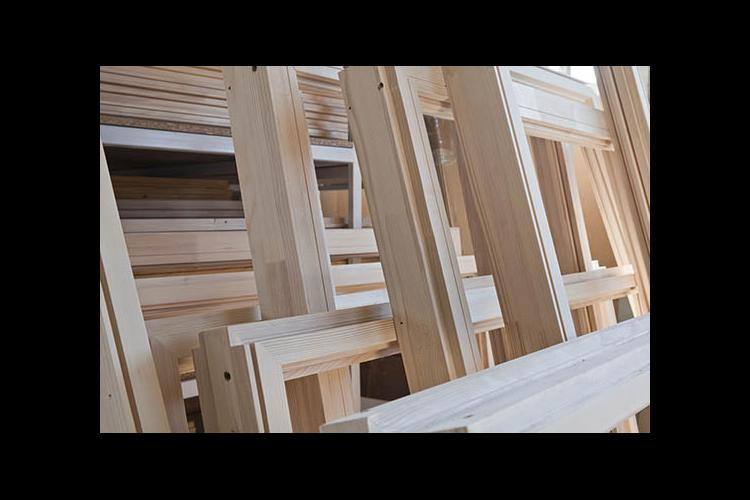 A stack of window frames