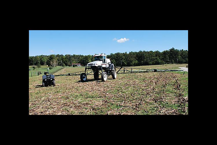 Two of the new equipment upgrades include a new sprayer and a precision agriculture upgrade on an all-terrain vehicle.