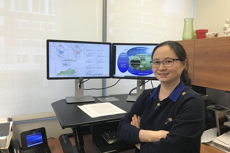 UK scientist Wei Ren will use historical and contemporary data sets to address critical risk indicators for potential natural disasters in agriculture. Photo courtesy of Ren lab.