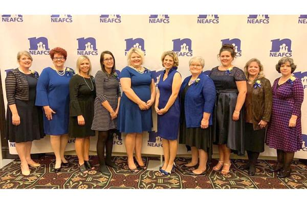UK extension agents received national recognition for their family and consumer sciences programming. Photo by Kayla Watts, Breathitt County family and consumer sciences extension agent.
