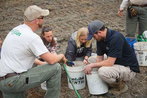 UK Forestry & Natural Resources students help reforest a strip mine in Whitley County, Kentucky.