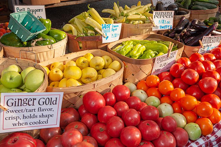Farmers market produce. Photo by Steve Patton, UK agricultural communications.