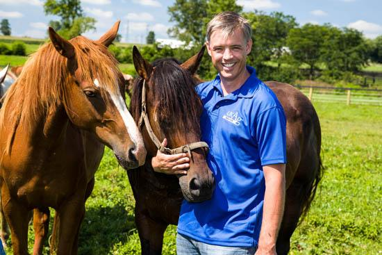 Horses on UK's Maine Chance Farm are a part of equine parasitology research conducted by Martin Nielsen.