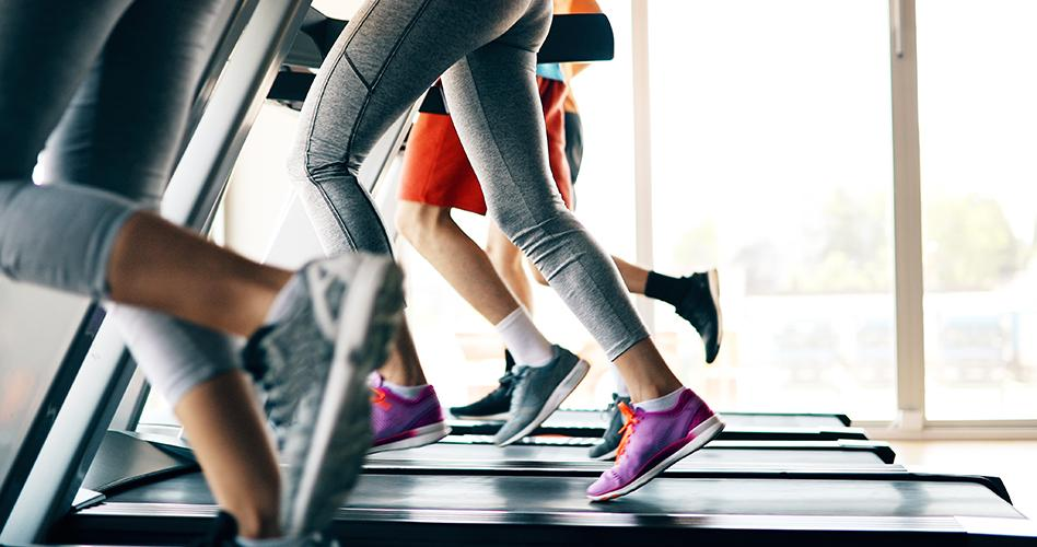 People running on a treadmill.  Photo from iStock/Getty Images Plus, Getty Images