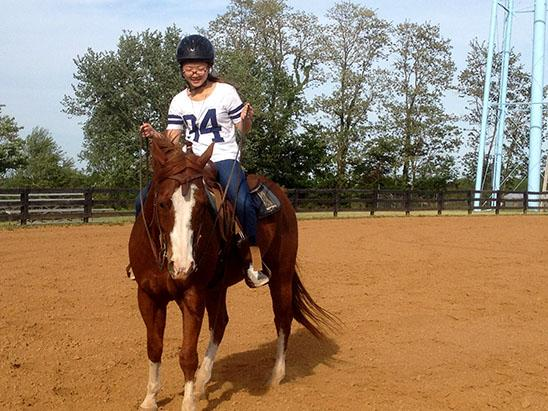 The Haniks tried to provide Rikako Sato with truly American and Kentucky experiences including horseback riding.