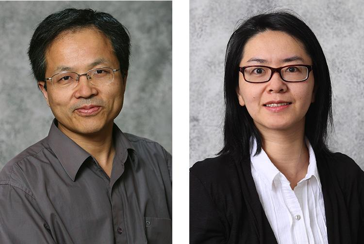 Feng Li, left, and Dan Wang are the newest scientists to join UK Gluck Equine Research Center's infectious disease program. Photos courtesy of South Dakota State University.