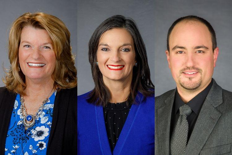 From left; Anna Porter, Natasha Lucas and Daniel Wilson recently were named extension regional directors for the West, Central and East regions of the state, respectively.