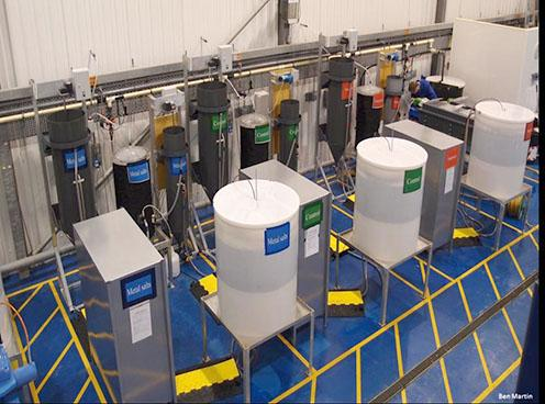 The pilot wastewater treatment plant that researchers constructed and used for this study.