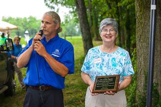 Keenan Bishop, Franklin County agriculture and natural resources extension agent and Jane Julian