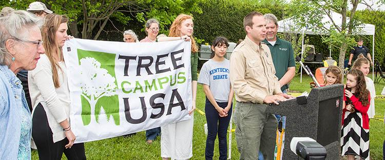 Tree Campus USA award presented to University of Kentucky during Arbor Day at The Arboretum 2017