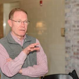 Billy Van Pelt, senior director of external relations for American Farmland Trust, at the trust's rye lunch, Jan. 2020. Photo provided by Dendrifund.
