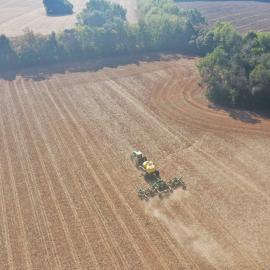 Planting rye at Walnut Grove Farms in Logan County, Kentucky. Photo by Szymon Szprejda