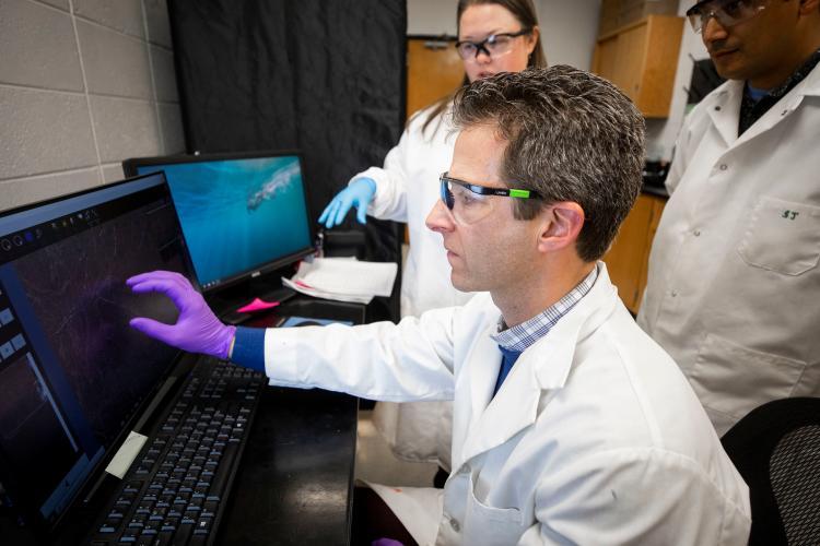 David McNear in his lab