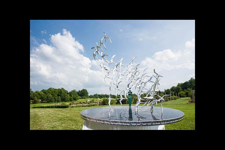 Flight 5191 memorial sculpture in The Arboretum