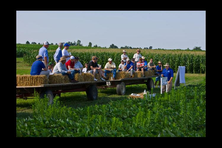 A past field day at the UK research farm in Princeton.