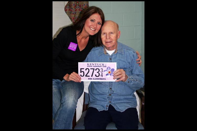 UK staff member hopes license plate raises Alzheimer's awareness