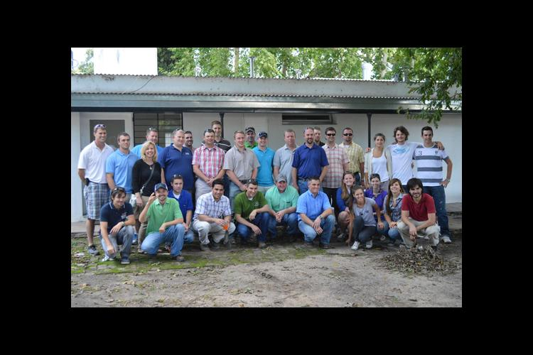 Participants on the trip to Argentina included UK grad students and farmers in the KyCGA's CORE Farmer Program.