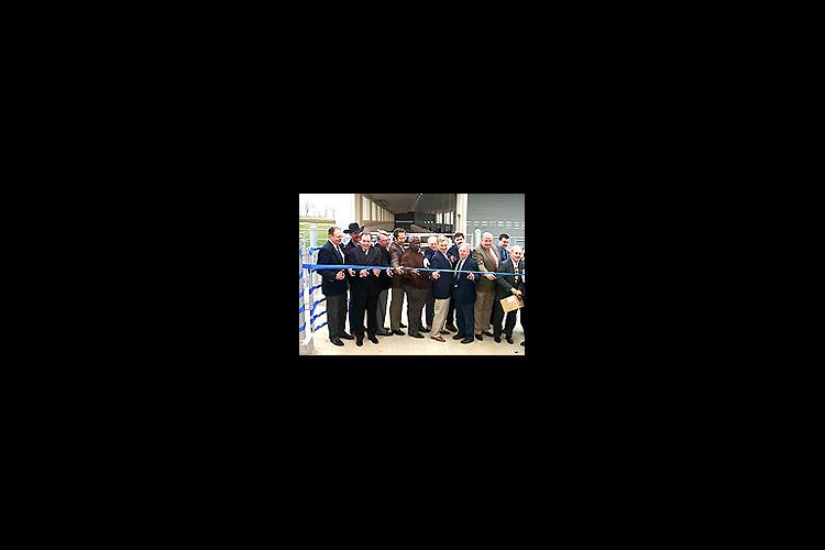 University administrators and ag leaders from around Kentucky help dedicate the new beef unit.