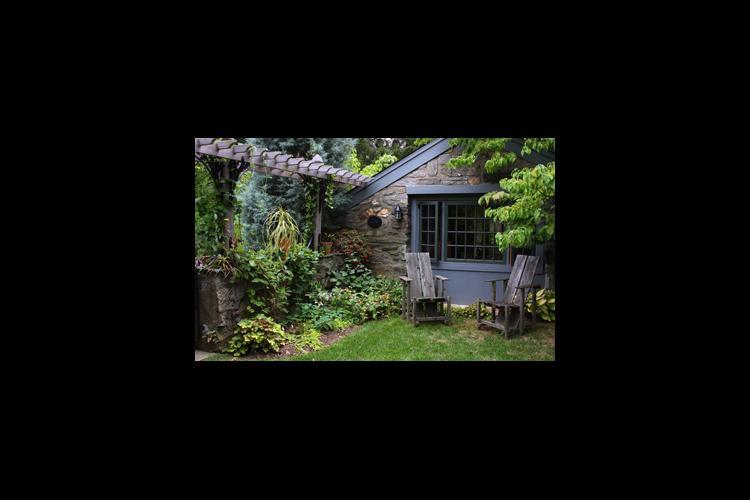 part of Bunting's home garden, Belvidere