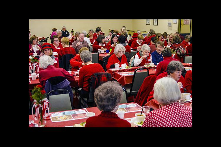 Go Red for Heart Health luncheon at the Shelby County Cooperative Extension office